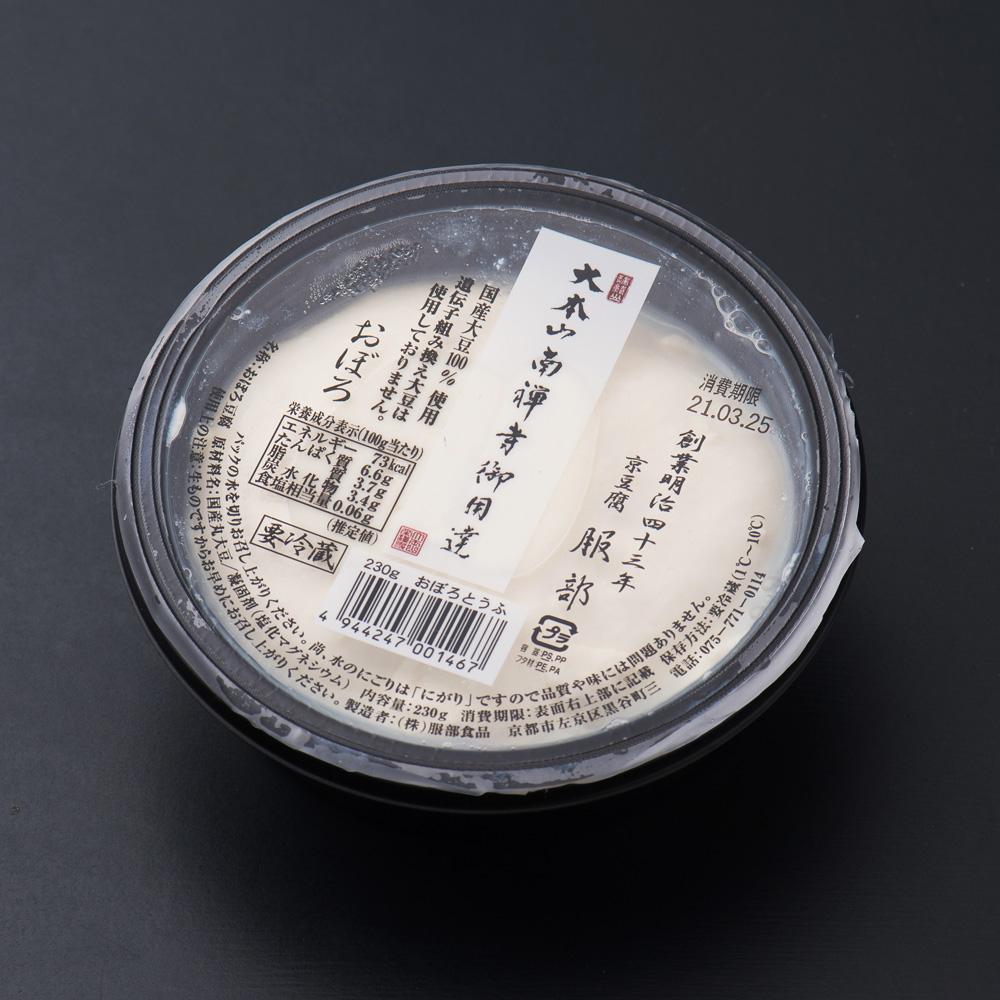 大本山南禅寺御用達 京豆腐 服部おぼろ豆腐230g